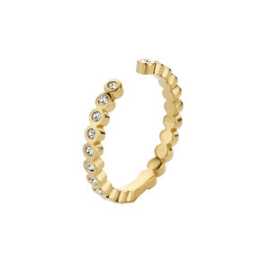 CZ Tina Twisted MelanO Ring Gold