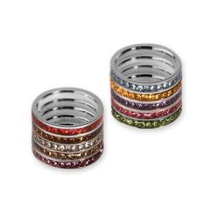 Melano Cz Side Rings Silver Stainless Steel Melano