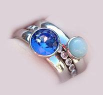 Twisted Silver Jeans Blue Aventurijn voorbeeld
