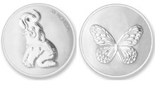 Lucky Elephant & Butterfly Silver Mi Moneda